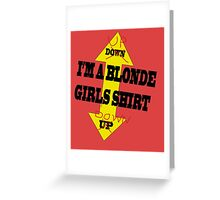 Blonde Girls II Greeting Card