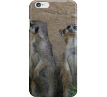 Cute Meerkat Family saying Hello iPhone Case/Skin