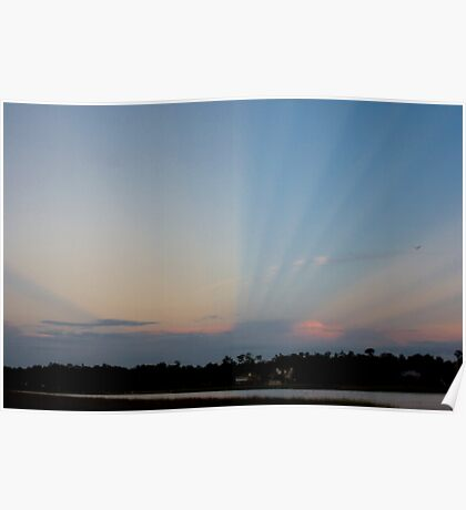 Anti-crepuscular rays   Poster