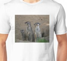 Cute Meerkat Family saying Hello Unisex T-Shirt