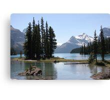 Spirit Island, Jasper NP, Alberta, Canada Canvas Print