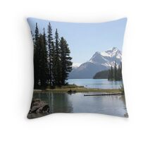 Spirit Island, Jasper NP, Alberta, Canada Throw Pillow