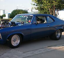Beautiful F A S T 1970 Blue NOVA by kodakcameragirl