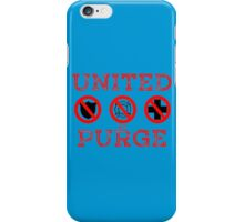United We Purge. iPhone Case/Skin