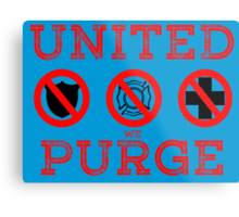United We Purge. Metal Print