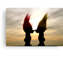 Troll lovers Canvas Print