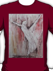 The Balance - Ballet Painting - Dance Art Gallery T-Shirt