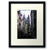 The Old street in Brussels (Belgium) Framed Print