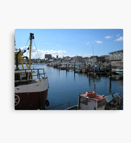 Plymouth Fishing Harbour Canvas Print