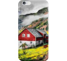 House near the road iPhone Case/Skin