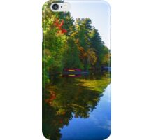 Autumn Lake Mirror - Impressions Of Fall iPhone Case/Skin