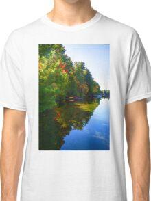 Autumn Lake Mirror - Impressions Of Fall Classic T-Shirt