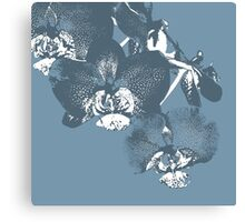 Homescape - wedgewood blue orchid  Canvas Print