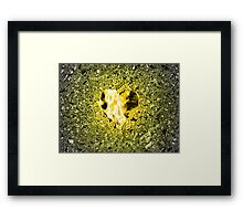 Golden Topaz Heart Framed Print
