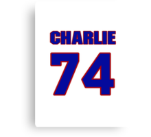 National football player Charlie Johnson jersey 74 Canvas Print
