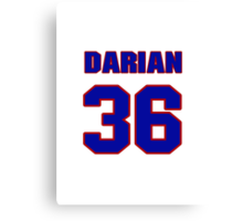 National football player Darian Barnes jersey 36 Canvas Print