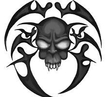 Tribal Skull by bikeymikey