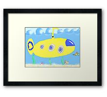 Under the sea in a yellow submarine Framed Print