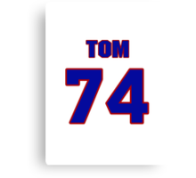 National football player Tom Neville jersey 74 Canvas Print
