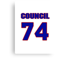 National football player Council Rudolph jersey 74 Canvas Print