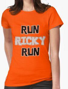 RUN RICKY RUN Womens Fitted T-Shirt