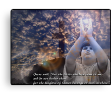 Matthew 19 : 14 Canvas Print