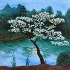 Dogwood Tree by Angela Micheli Otwell