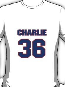 National football player Charlie Scales jersey 36 T-Shirt
