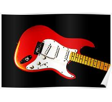 My Red Guitar Poster