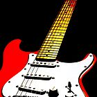 My Red Guitar 2 by Paul Reay