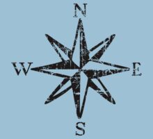 Compass Rose NESW Vintage Kids Clothes