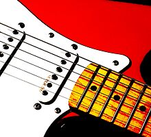 My Red Guitar 3 by Paul Reay