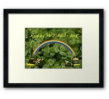Happy St. Patricks Day Framed Print