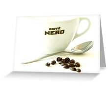 White Coffee Greeting Card