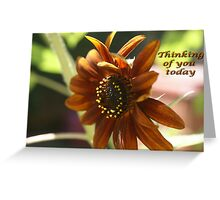 Autumn breeze made me think of you today. Greeting Card