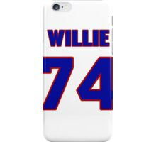 National football player Willie Colon jersey 74 iPhone Case/Skin