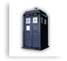 Doctor who TARDIS Artistic sketch Canvas Print