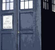 Doctor who TARDIS Artistic sketch Sticker