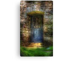 A rather old door leading to somewhere Canvas Print