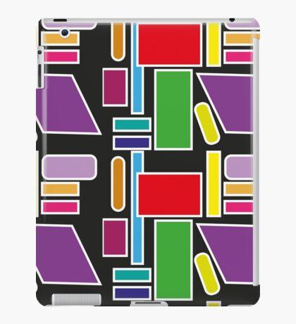 Black Geometric Design iPad Case/Skin