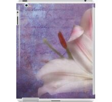 The fragrance of love iPad Case/Skin