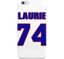 National football player Laurie Niemi jersey 74 iPhone Case/Skin