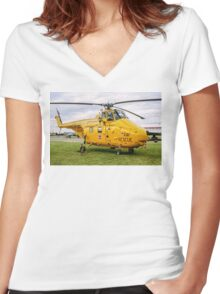 Westland Whirlwind HAR.10 XJ729 Women's Fitted V-Neck T-Shirt