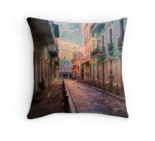 Streets of San Juan Throw Pillow