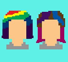 Pixel Catalina and Suzee by omondieu