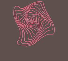Pink Spiral Womens Fitted T-Shirt