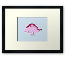 Heartosaurus Framed Print