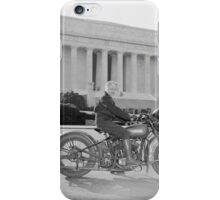 Woman on Motorcycle in Washington iPhone Case/Skin