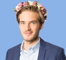 Pewdiepie blue flower design by laerketheduck