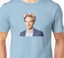 Pewdiepie blue flower design Unisex T-Shirt